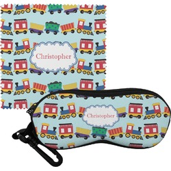 Trains Eyeglass Case & Cloth (Personalized)