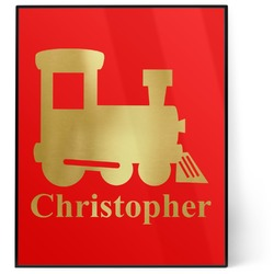 Trains 8x10 Foil Wall Art - Red (Personalized)