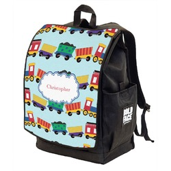 Trains Backpack w/ Front Flap  (Personalized)