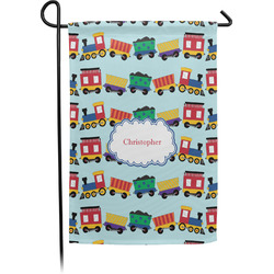 Trains Single Sided Garden Flag With Pole (Personalized)