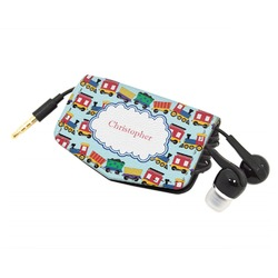 Trains Genuine Leather Cord Wrap (Personalized)