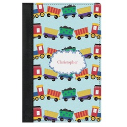 Trains Genuine Leather Passport Cover (Personalized)