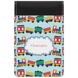 Trains Genuine Leather Small Memo Pad (Personalized)