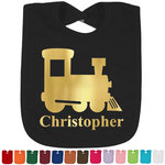 Trains Foil Baby Bibs (Personalized)