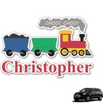 Trains Graphic Car Decal (Personalized)