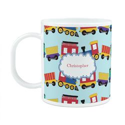 Trains Plastic Kids Mug (Personalized)