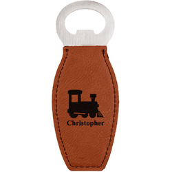 Trains Leatherette Bottle Opener (Personalized)