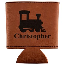 Trains Leatherette Can Sleeve (Personalized)