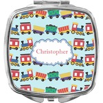 Trains Compact Makeup Mirror (Personalized)