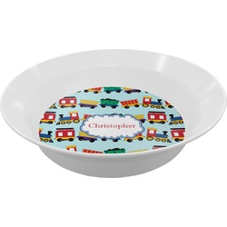 Trains Melamine Bowl (Personalized)