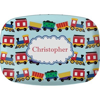 Trains Melamine Platter (Personalized)