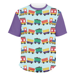 Trains Men's Crew T-Shirt (Personalized)