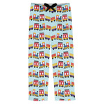Trains Mens Pajama Pants (Personalized)
