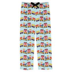 Trains Mens Pajama Pants (Personalized)