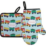 Trains Oven Mitt & Pot Holder (Personalized)