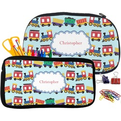 Trains Pencil / School Supplies Bag (Personalized)