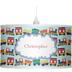 Trains Drum Pendant Lamp Linen (Personalized)