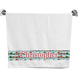 Trains Bath Towel (Personalized)