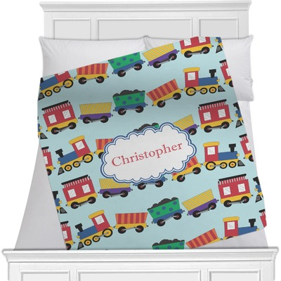 Trains Minky Blanket (Personalized)