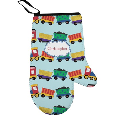 Trains Oven Mitt (Personalized)