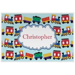 Trains Laminated Placemat w/ Name or Text