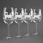 Trains Wine Glasses (Set of 4) (Personalized)