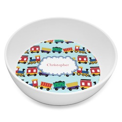 Trains Melamine Bowl - 8 oz (Personalized)