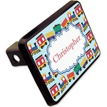 """Trains Rectangular Trailer Hitch Cover - 2"""" (Personalized)"""