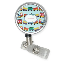 Trains Retractable Badge Reel (Personalized)