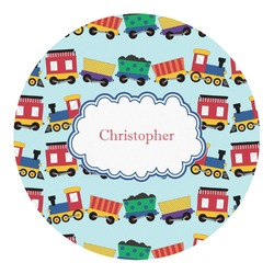 Trains Round Decal (Personalized)