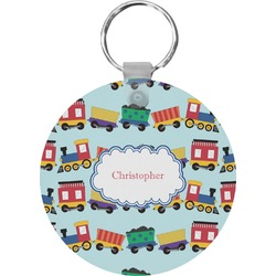 Trains Round Keychain (Personalized)