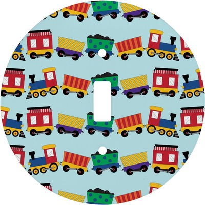 Trains Round Light Switch Cover (Personalized)