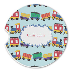 Trains Sandstone Car Coasters (Personalized)