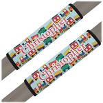 Trains Seat Belt Covers (Set of 2) (Personalized)