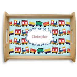 Trains Natural Wooden Tray (Personalized)