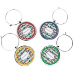 Trains Wine Charms (Set of 4) (Personalized)