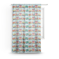 Trains Sheer Curtains (Personalized)