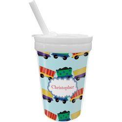 Trains Sippy Cup with Straw (Personalized)