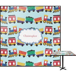Trains Square Table Top (Personalized)