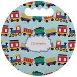 Trains Stadium Cushion (Round) (Personalized)