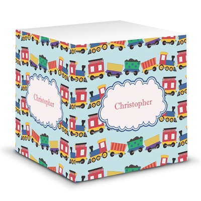 Trains Sticky Note Cube (Personalized)