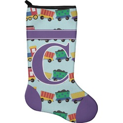 Trains Holiday Stocking - Neoprene (Personalized)