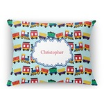 Trains Rectangular Throw Pillow (Personalized)