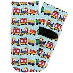 Trains Toddler Ankle Socks (Personalized)