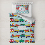 Trains Toddler Bedding w/ Name or Text