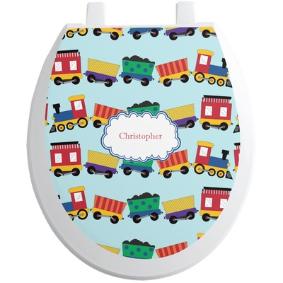 Trains Toilet Seat Decal (Personalized)