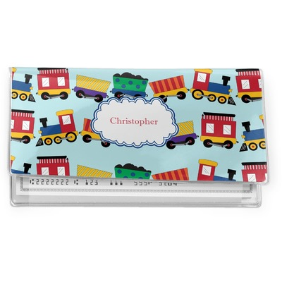 Trains Vinyl Checkbook Cover (Personalized)