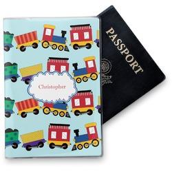 Trains Vinyl Passport Holder (Personalized)
