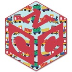 Trains Monogram Decal - Custom Sized (Personalized)