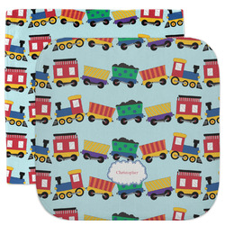 Trains Facecloth / Wash Cloth (Personalized)